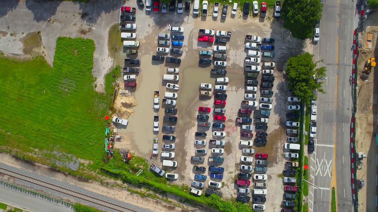 Aerial tilt up to Edgewater Paraiso District Miami