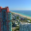 Lateral motion aerial video Miami Beach 4k 60p