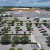 Drone fly aerial Dolphin Mall Miami 4k