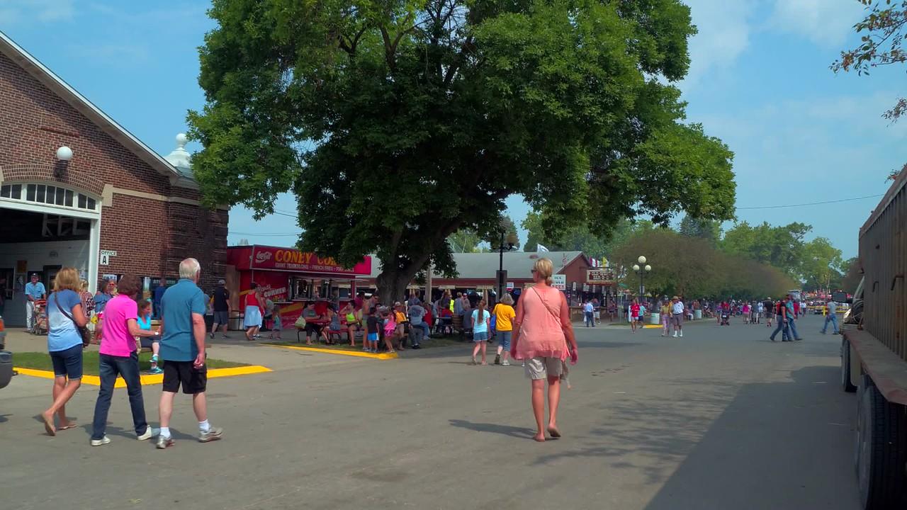 Tourists enjoying the Iowa State Fair