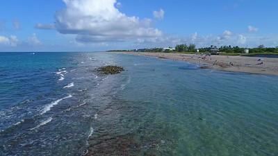 Stuard Beach aerial drone video 4k 60p