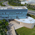 Aerial footage of the Aventura Police Department