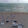 Tourists on the shores of Miami Beach