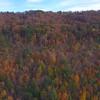 Aerial mountain foliage Georgia USA
