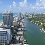 Aerial video of the Blue and Green Diamond Miami Beach FL 4k 24p