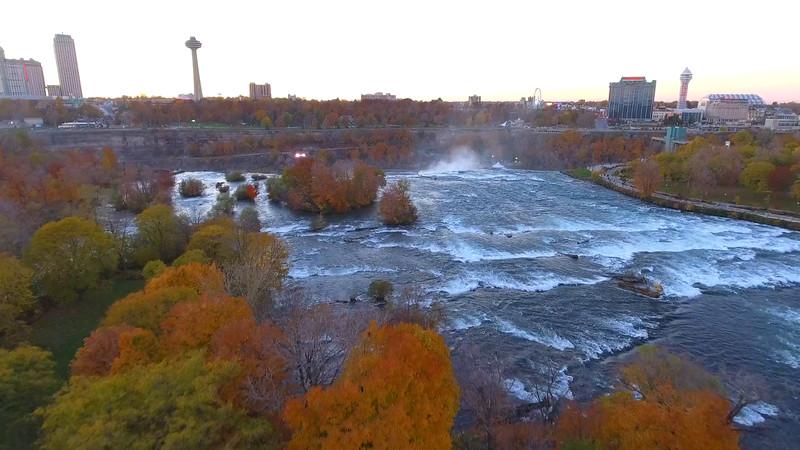 Aerial video Niagara Falls Canada