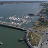 Aerial footage Bridge of Lions St Augustine FL 4k 60p