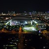 Aerial establishing shot Marlins Park