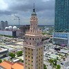 Aerial video Freedom Tower Miami 4k