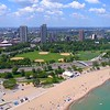 Aerial video Lincoln Park South Fields 4k 60p