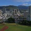 Aerial video Ala Wai Community Park 4k