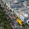 Flying over Ocean Drive Aerials