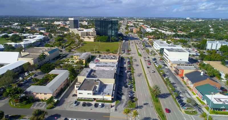 Aerial video Commercial Boulevard and N Federal Highway