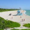 Aerial shot Haulover Beach Florida