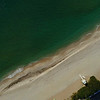 Aerial video sand and ocean