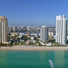 Aerial video coastal Sunny Isles Beach FL, America