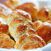 homemade bread with very shallow depth of field