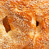 fresh handmade bagel for the breakfast. Very shallow depth of field.