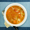 photo of soup from up
