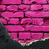 Pink brick wall.  Urban texture. Pink color