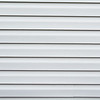 Gray vinyl siding background with horizontal lines