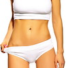 Perfect sensual sport woman female body in white lingerie