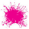 Abstract pink grunge background with splat halftone dots