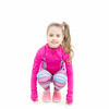 Workout Of Small Girl Isolated On White Background.