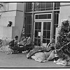 San Franciso AIDS vigil, 49th continuous Day of people with AIDS chaining themselves to a Federal building in SF Civic Center, December 14, 1985