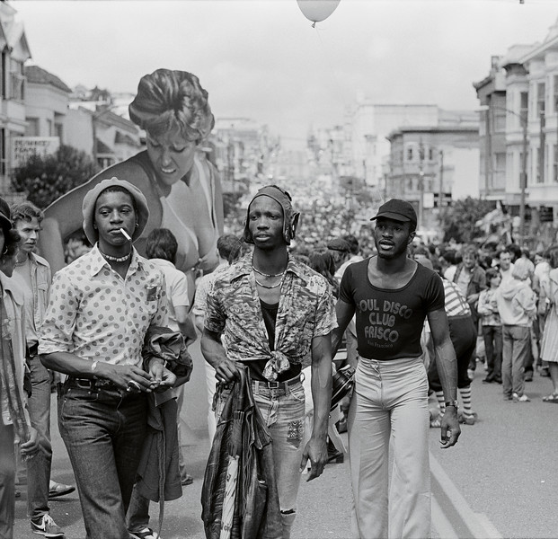 Leon Lott, December Wright, and larry Williams Castro Street Fair, August 1976