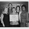 Del Martin; Harvey Milk; Phyliss Lyon; Carol Ruth Silver; Ella Hill Hutch; presenting Del and Phyliss with a certificate of honor from the City of SF; January 29; 1978