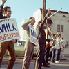 Harry Britt and Milk friends campaigning for harvey milk during