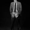 Daniel Nicoletta, self portrait wearing the suit that Harvey Milk was assassinated in.<br /> July 26, 1995