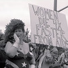 Scarlet Harlot at the demonstration on women's AIDS issues at the Sixth International AIDS Conference in SF,  June 22, 1990