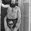 Mark Chester and friend at his open studio at The Folsom Street fair, September 20, 1987