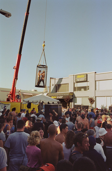 Folsom Street Fair Go Go Cage, September 24, 2000