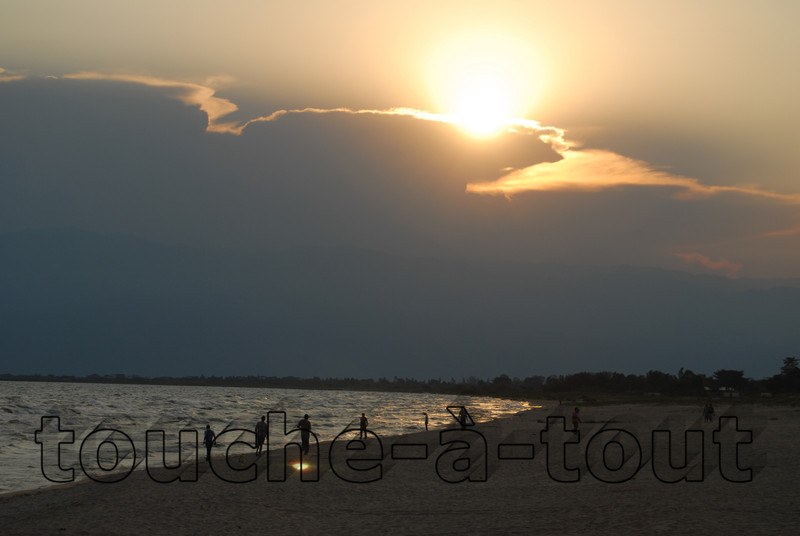 Sunset on the shore of Lake Tanganyika, Bujumbura, Burundi