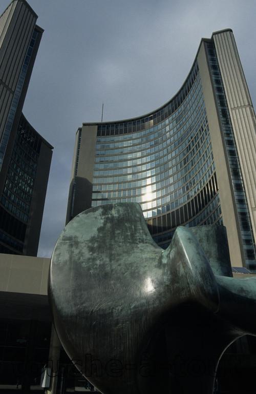 Henry Moore sculpture, Toronto, Canada