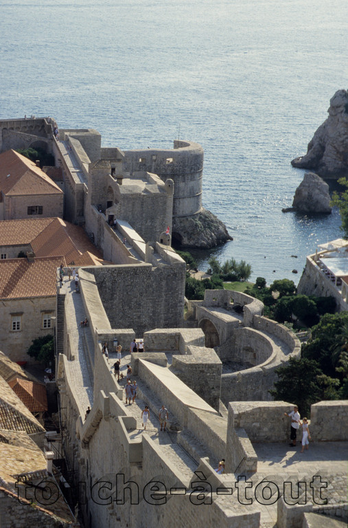 The walls of Dubrovnik, Croatia