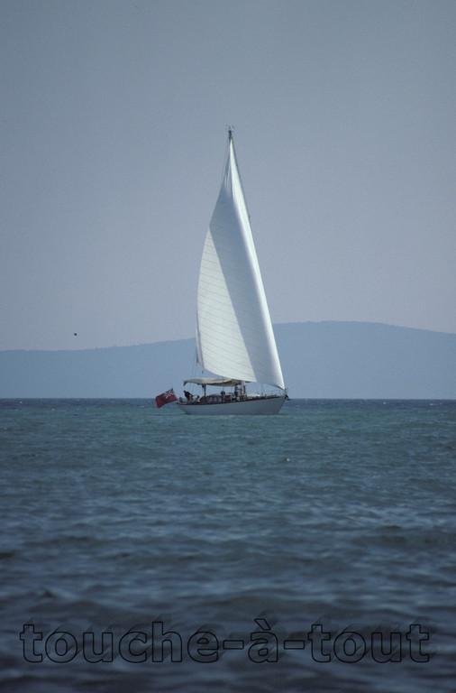 Off the coast of Split, Croatia