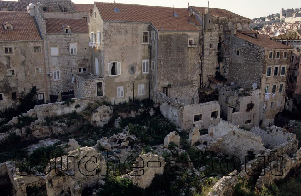 Shell damage, Dubrovnik, Croatia