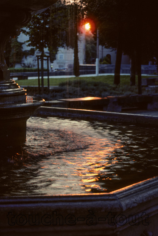 Sunset fountain, Split, Croatia