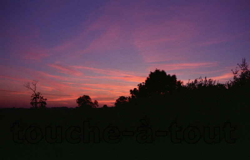Sunset over Burgundy, France