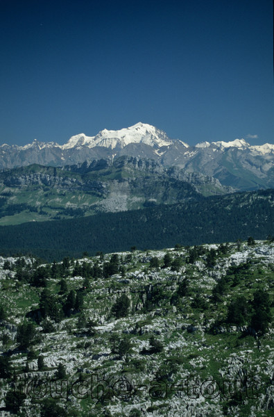 Looking towards Mont Blanc, near Lac d'Annecy, France