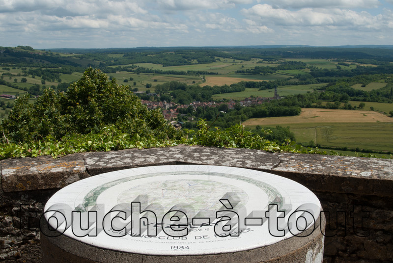 View from Vezelay across the Morvan National Park