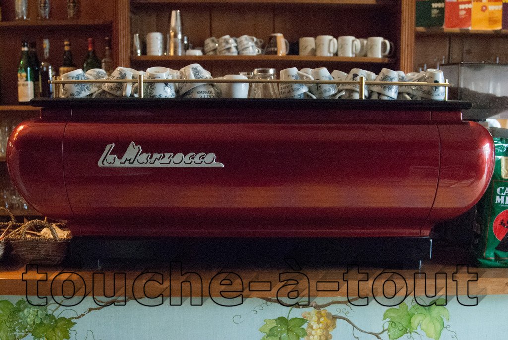 Coffee machine in a cafe off Piazza Santa Croce