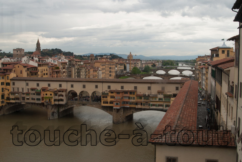 Ponte Vecchio<br /> Ponte Vecchio from the Uffizi Gallery