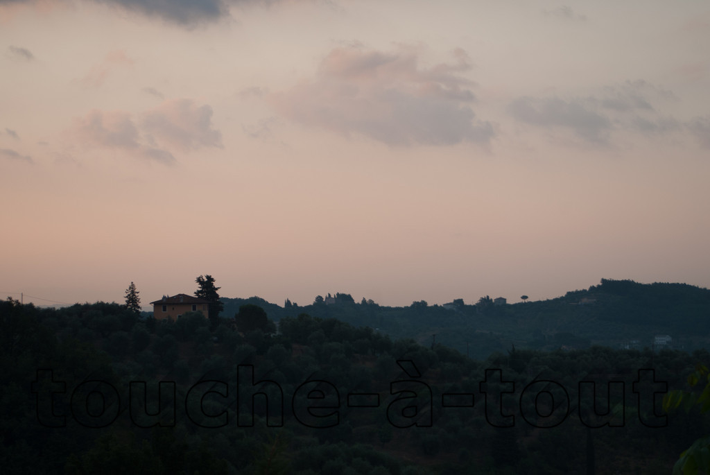 Dawn over Tuscany near Lucca