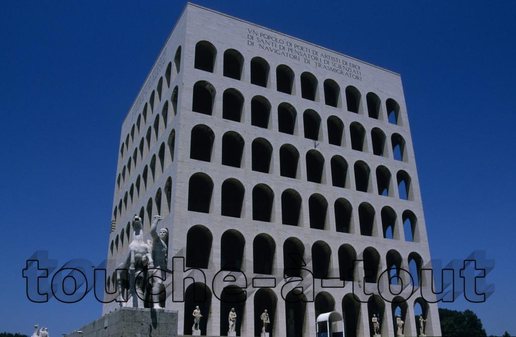 Pallazzo della Civita in the EUR, Rome<br /> Pallazzo della Civita in the EUR, Rome