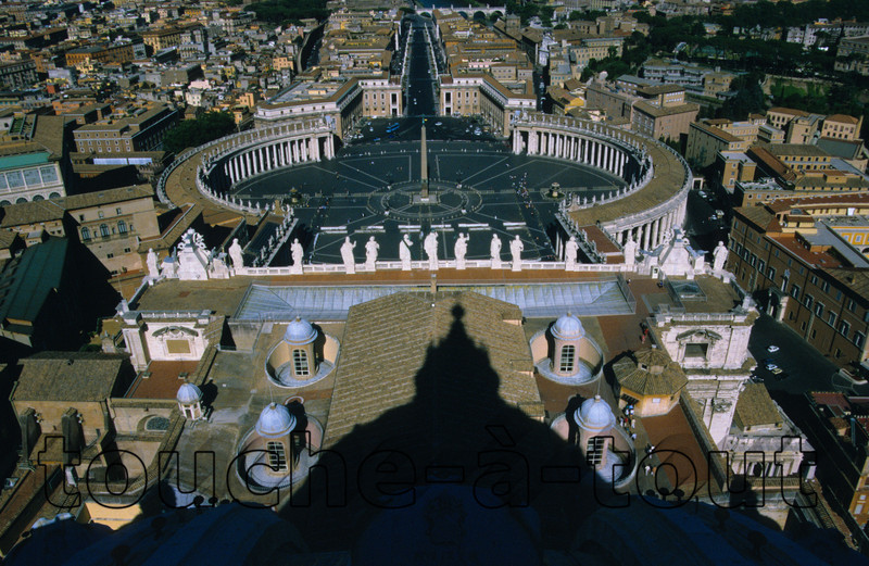 View from the dome of St. Peter's, Rome